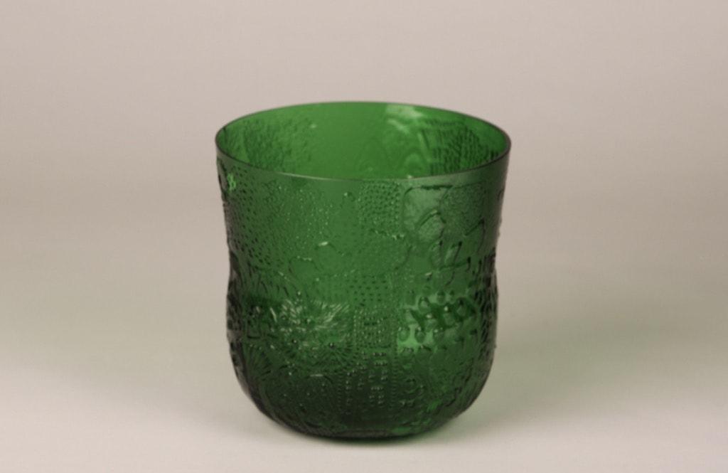 Nuutajärvi Fauna bowl, green, designer Oiva Toikka, 2 l