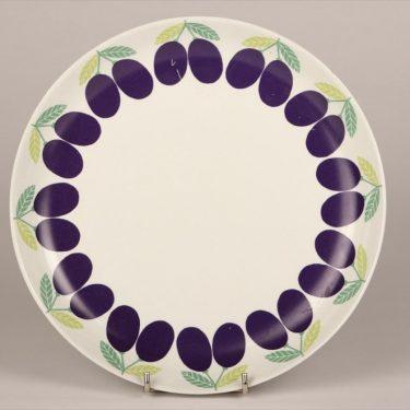 Arabia Pomona Luumu plate, designer Raija Uosikkinen, silk screening
