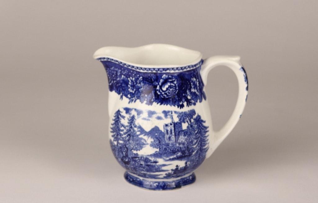 Arabia Maisema jug,1 l, copper ornament, blue