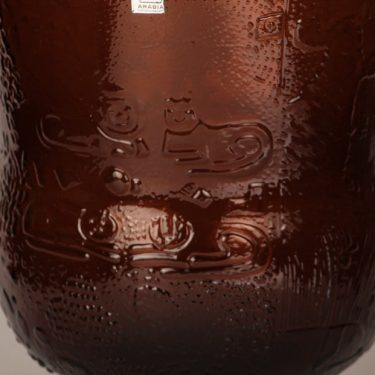 Nuutajärvi Fauna kulho, ruskea, suunnittelija Oiva Toikka, suuri, jalallinen kuva 2