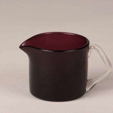 Riihimäen lasi Rosso creamer, purple, designer Nanny Still