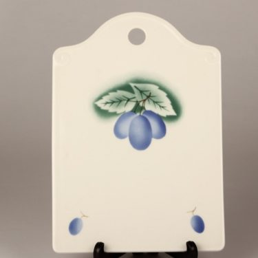 Arabia Luumu cutting board, designer Thure Öberg, blown decoration