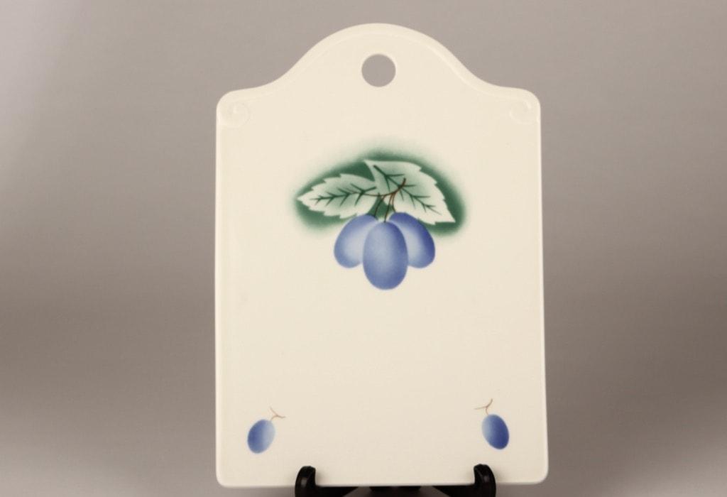 Arabia Luumu cutting board, designer Thure Öberg, blown decoration