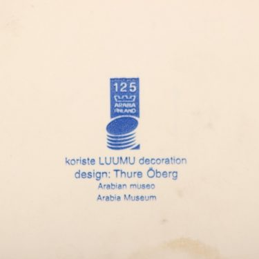 Arabia Luumu talouslevy, suunnittelija Thure Öberg, puhalluskoriste kuva 2