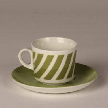 Arabia BR kahvikuppi, vihreä, suunnittelija , puhalluskoriste, retro