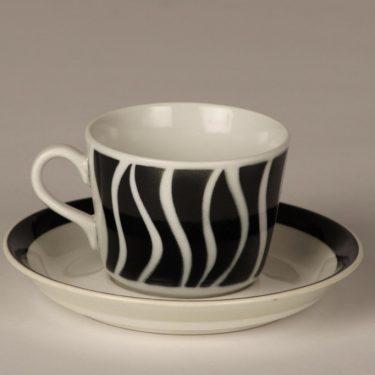 Arabia AA kahvikuppi, musta, suunnittelija , puhalluskoriste, retro