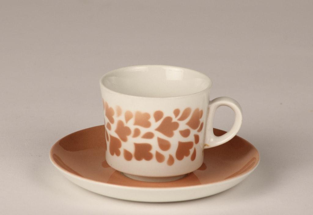 Arabia Varpu kahvikuppi, vaaleanpunainen, suunnittelija , puhalluskoriste, retro
