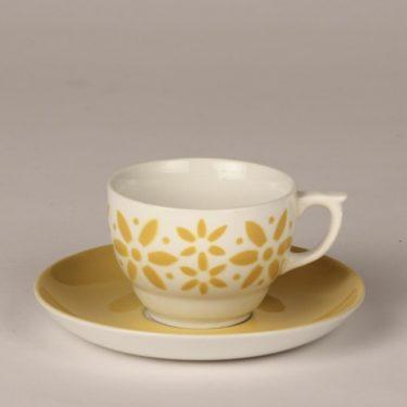 Arabia Armi kahvikuppi, keltainen, suunnittelija , puhalluskoriste, retro
