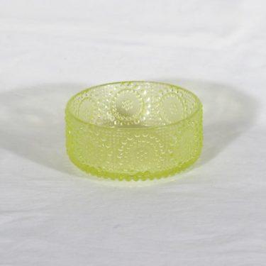 Riihimäen lasi Grapponia malja, keltainen, suunnittelija Nanny Still,