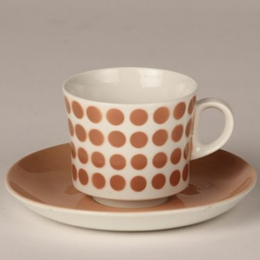 Arabia Pop kahvikuppi, rosa, suunnittelija , puhalluskoriste, retro