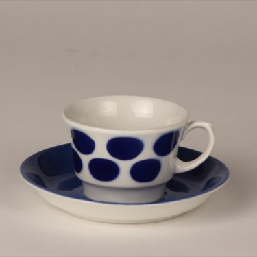 Arabia EP coffee cup, blown decoration, blue, retro