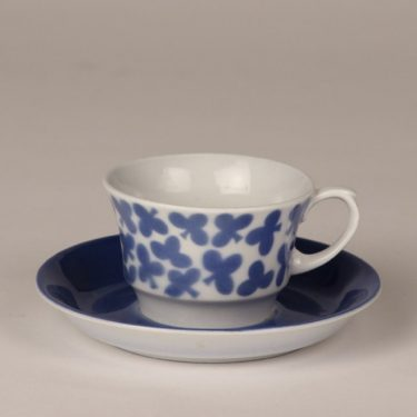Arabia EP kahvikuppi, sininen, suunnittelija , puhalluskoriste, retro