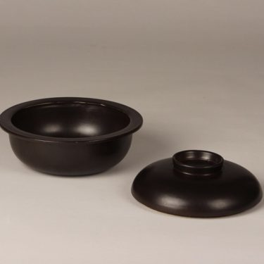 arabia Liekki small pot, brown, 3 pcs, designer Ulla Procope, 3