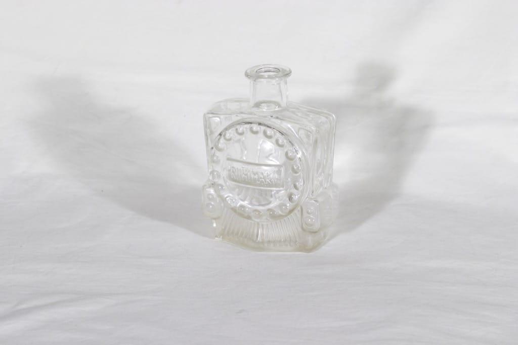 Riihimäen lasi Veturipullo koristepullo, kirkas, suunnittelija Erkkitapio Siiroinen,