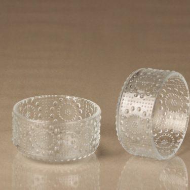 Riihimäen lasi Grapponia jälkiruokakulhot, kirkas, 5 kpl, suunnittelija Nanny Still,  kuva 2