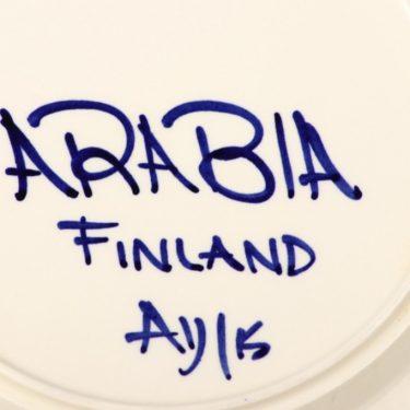 Arabia Paju lautanen, matala, suunnittelija Anja Jaatinen, matala, käsinmaalattu kuva 2