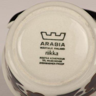 Arabia Riikka sokerikko ja kermakko, ruskea-musta, suunnittelija Anja Jaatinen-Winqvist, retro kuva 2