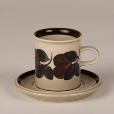 Arabia Rosmarin coffee cup, brown, designer Raija Uosikkinen, hand-painted