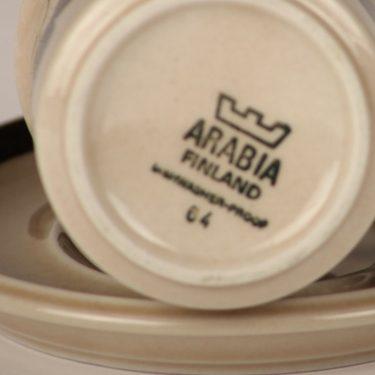 Arabia Rosmarin kahvikuppi, ruskea, suunnittelija Raija Uosikkinen, käsinmaalattu kuva 2
