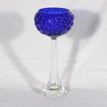 Kumela 5012-250 jalallinen malja, sininen, suunnittelija Kaj Blomqvist,