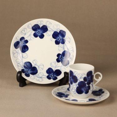 Arabia Elsa kahvikuppi, sininen, suunnittelija Esteri Tomula, käsinmaalattu