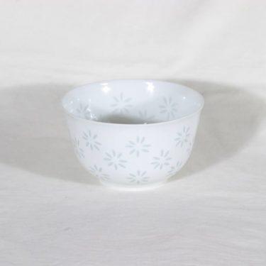 Arabia riisiposliini malja, valkoinen, suunnittelija Friedl Holzer-Kjellberg,