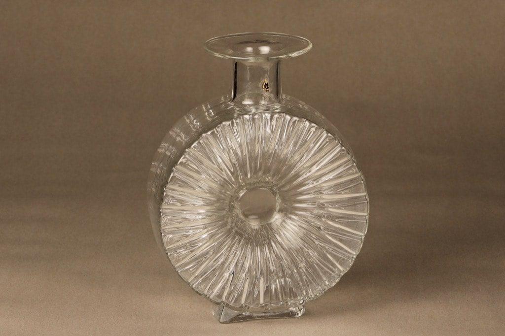 Riihimäen lasi Aurinkopullo decorative bottle, ¾, designer Helena Tynell