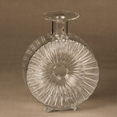 Riihimäen lasi Aurinkopullo decorative bottle, ¾, designer Helena Tynell