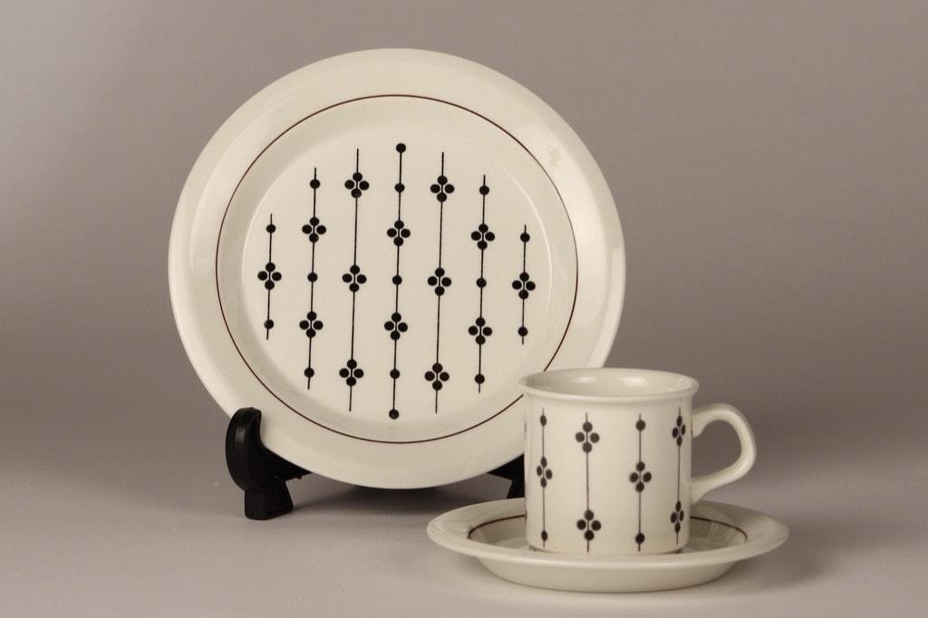 Arabia Kartano kahvikuppi, mustavalkoinen