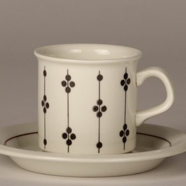 Arabia Kartano coffee cup, black and white, Esteri Tomula, 2