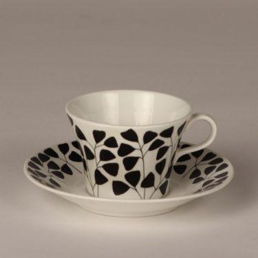 Arabia Lutukka kahvikuppi, mustavalkoinen, suunnittelija Esteri Tomula,