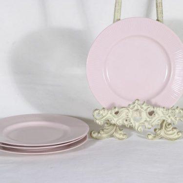 Arabia Sointu leivoslautaset, rosa, 4 kpl, suunnittelija Kaj Franck,