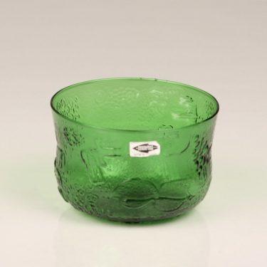 Nuutajärvi Fauna dessert bowl, green, designer Oiva Toikka