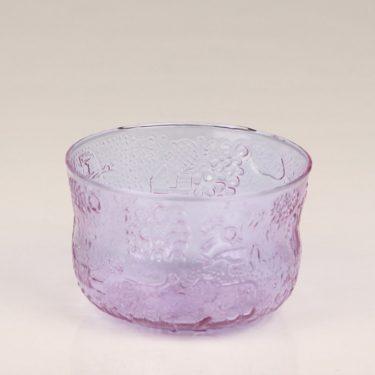 Nuutajärvi Fauna dessert bowl, amethyst, designer Oiva Toikka