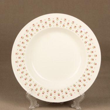 Arabia Miniflora lautaset, syvä, suunnittelija , syvä, serikuva, kukka-aihe