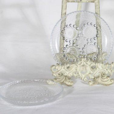 Riihimäen lasi Grapponia lautaset, kirkas, 2 kpl, suunnittelija Nanny Still,