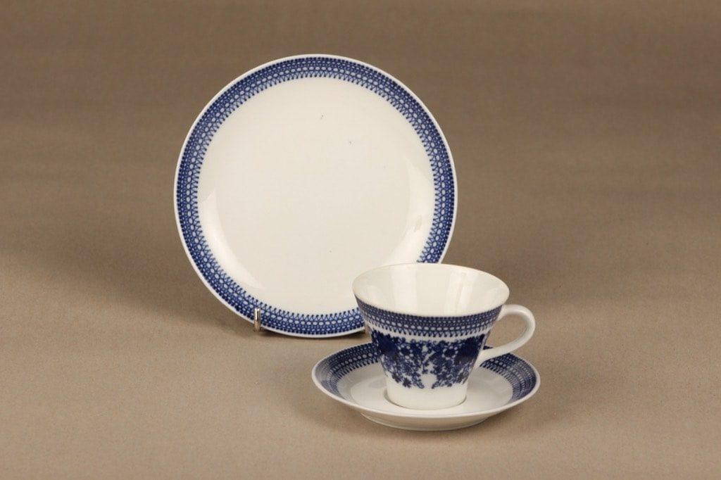 Arabia Elisabet coffee cup, saucer and plate, Raija Uosikkinen