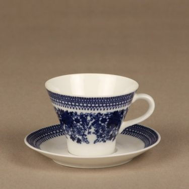 Arabia Elisabet coffee cup, saucer and plate, Raija Uosikkinen, 2