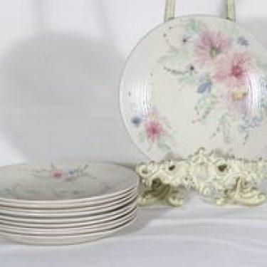 Arabia ARA lautaset, käsinmaalattu, 10 kpl, suunnittelija , käsinmaalattu