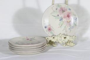 Arabia ARA plates, hand-painted, 10 pcs