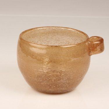 Nuutajärvi Iglu bowl, brown, designer Oiva Toikka, signed