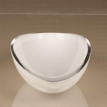 Iittala Peace art glass, white, designer Kerttu Nurminen, opal glass, signed, 2