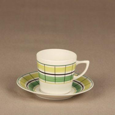 Arabia Verkko coffee cup, hand-painted, designer Esteri Tomula, retro