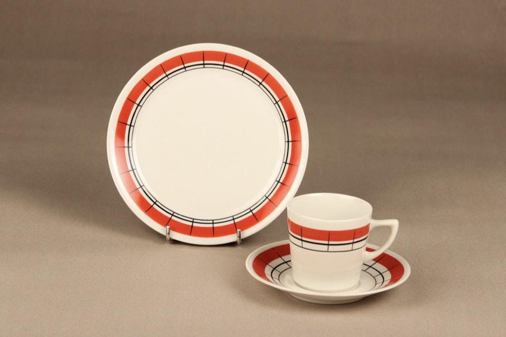 Arabia Verkko coffee cup, hand-painted, Esteri Tomula