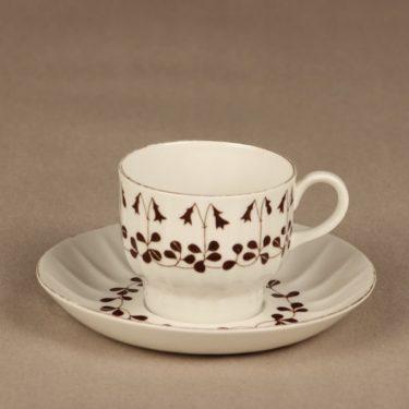 Arabia Vanamo kahvikuppi, 3-osainen, suunnittelija Esteri Tomula, 3-osainen, serikuva kuva 2