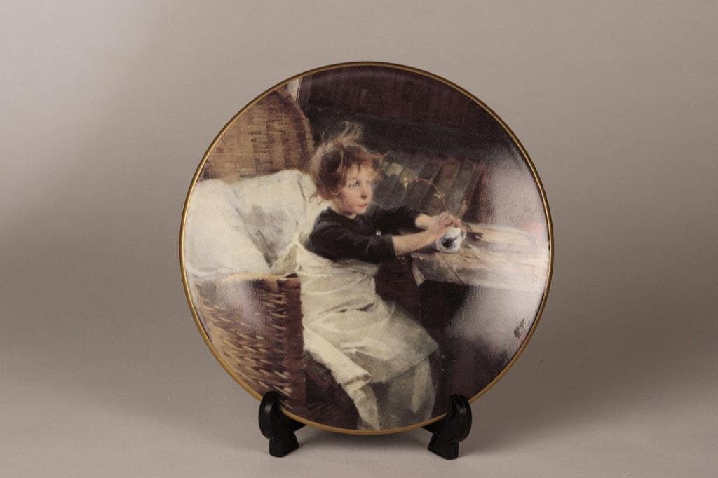 Arabia wall plate Convalescent designer Helene Schjerfbeck