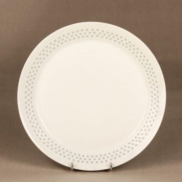 Arabia Helmi lautanen, riisiposliini, 8 kpl, suunnittelija Friedl Holzer-Kjellberg, riisiposliini, massasigneerattu