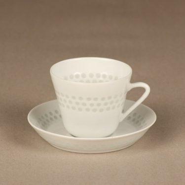Arabia Helmi kahvikuppi, riisiposliini, suunnittelija Friedl Holzer-Kjellberg, riisiposliini, massasigneerattu