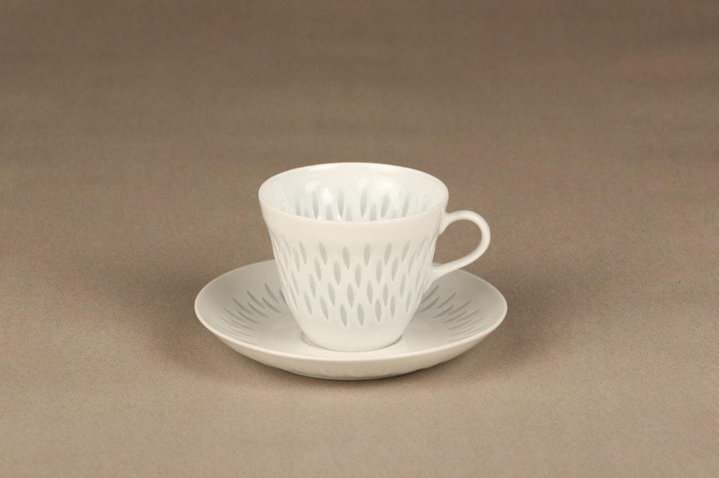 Arabia FK kahvikuppi, riisiposliini, suunnittelija Friedl Holzer-Kjellberg, riisiposliini, massasigneerattu