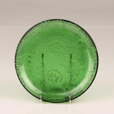 Nuutajärvi Fauna plate, green, Oiva Toikka